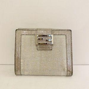 Vintage Fendi Zucchino Compact Bi-Fold Wallet